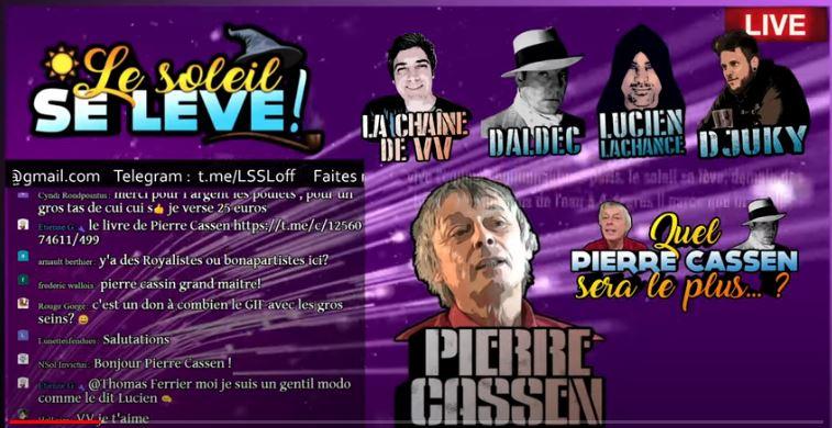 Pierre Cassen en plein délire avec son imitateur Dalbec