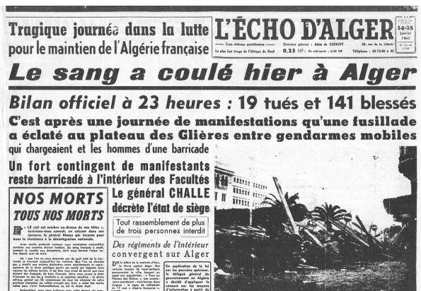 Alger, janvier 1960 : la semaine des barricades