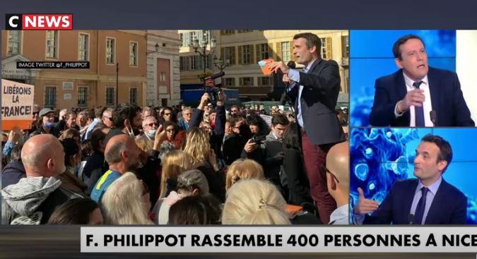 Attaqué sur Nice, Philippot défend nos libertés sur CNews et à Paris