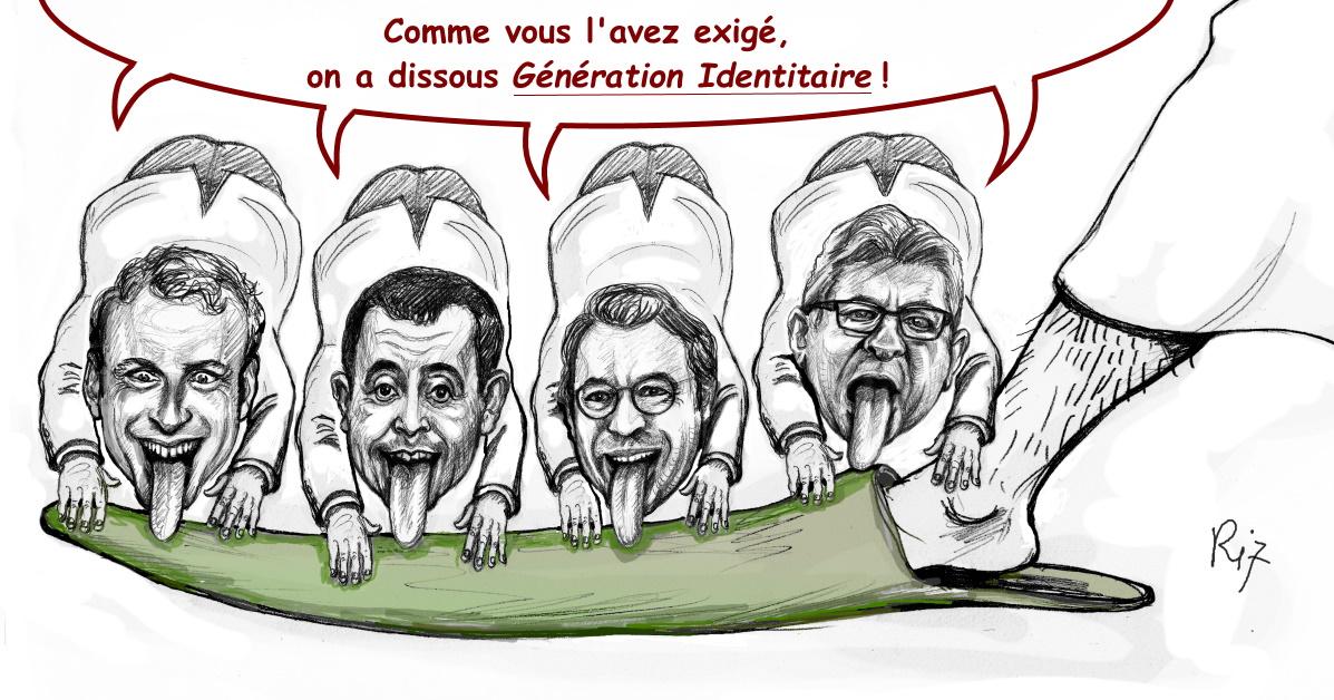 Darmanin et Macron livrent les Identitaires aux islamistes et aux gauchistes