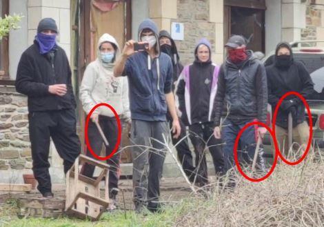 St-Julien-des-Points : les squatteurs provoquent les manifestants