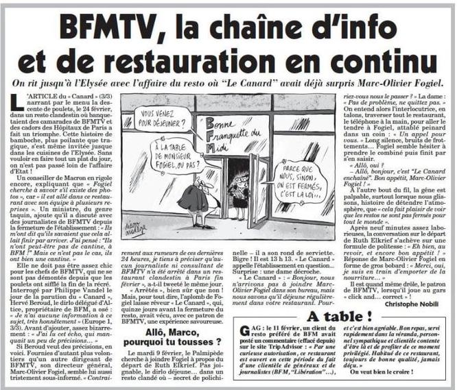 """BFM TV et les restos clandestins : """"Faites ce que je dis, pas ce que je fais"""""""