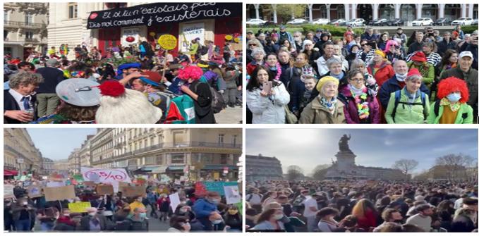 Défis à Macron: chahuts, carnavals et fiestas dans les rues!
