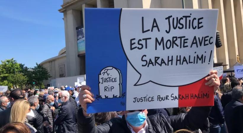 Manif Sarah Halimi: Messiha présent, les Insoumis absents