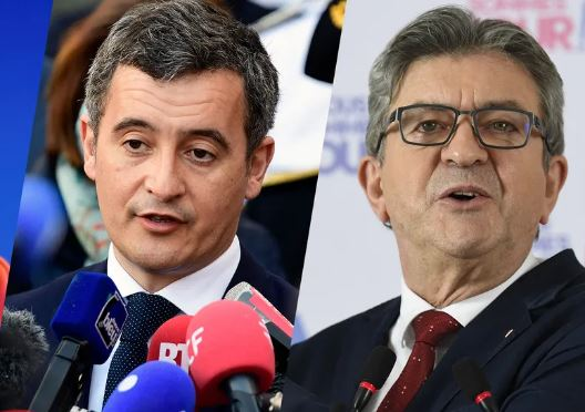 Les ennemis de la France Darmanin et Mélenchon menacent nos militaires