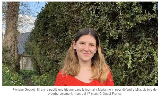 Floriane, 18 ans, soutient Mila : mêmes menaces de mort !