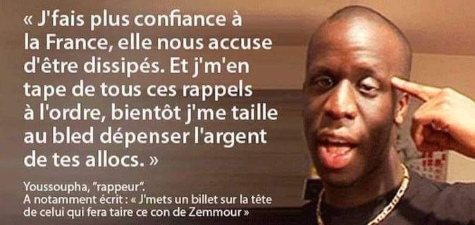 Je vais manifester contre les fachos avec Youssoupha et mon drapeau Palestine
