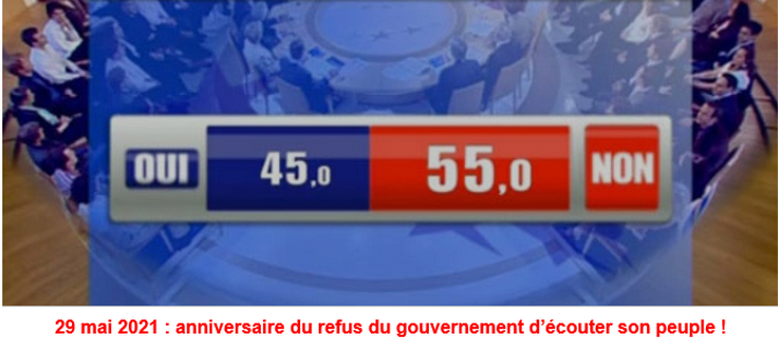 29 mai 2005: Non des Français à l'UE… trahi par Sarkozy en 2008 !