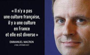 Macron, le petit négationniste de la culture française