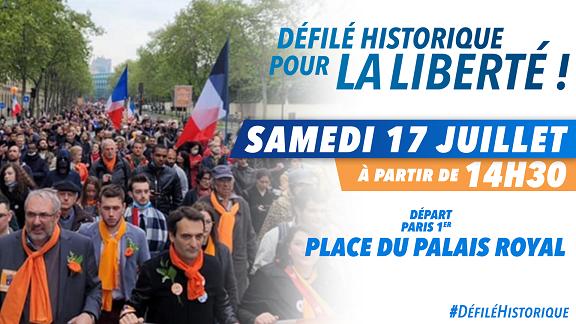 Florian Philippot annonce une nouvelle grande manifestation à Paris !