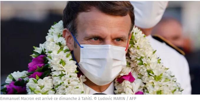 Dégueuler sur la France dès qu'il s'en éloigne, une spécialité Macron !