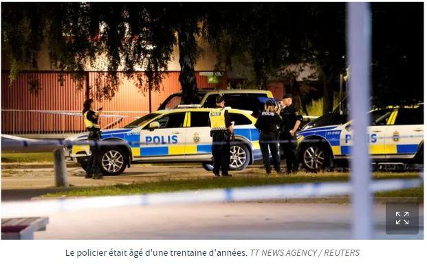 Première en Suède : un policier abattu dans un quartier sensible